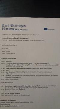 Noutati - Conferinta despre Jurnalism si Educația Adulților (Multiplier event)